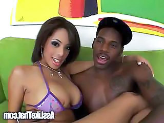 Ebony cutie gets fucked by black dudue.