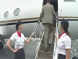 Uniform  Outdoor Milf Threesome Outdoor Stewardess