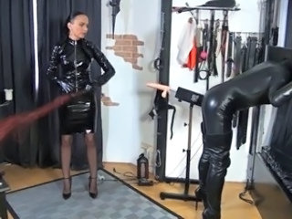 Femdom Fetish Latex Whip Caught Mom