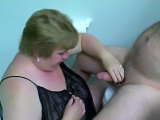 BBW wife sucks hubby cock in a speed a plant