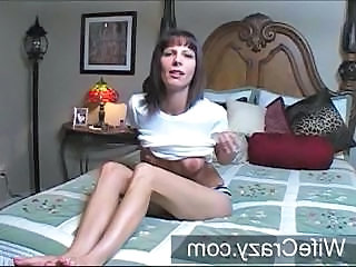 Skinny MILF puts on a show with her dildo for a little fun