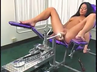 Brunette Machine Masturbating Gyno