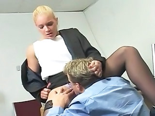 Licking Secretary Blonde Big Cock Milf Boss Cock Licking