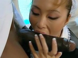 Interracial asian milf blowjob