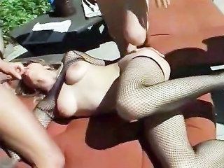 Blowjob Fishnet Threesome Beach Bikini Bikini Fishnet