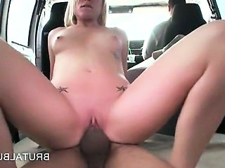 Irresistible blonde hottie cunt nailed doggy in the sex bus Sex Tubes