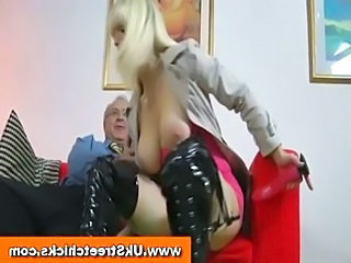 Old man fucks hot blonde in boots  free