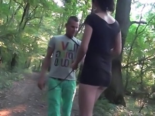 Married pair blowing and xxx  onto A desolate path