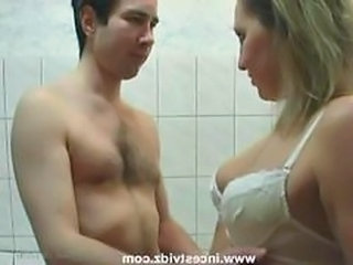Taking A Hot Shower Together With Mommy