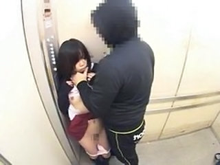 Schoolgirls groped in a school elevator