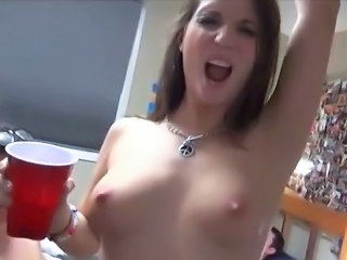 Daffy students party nearly  Hot bimbos