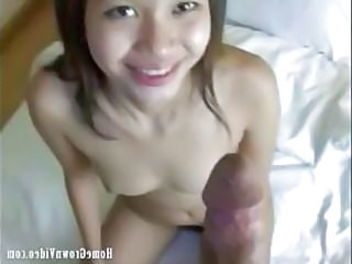 Cute Asian Chick Ming Is Shooting With Mr Happy. She Strips Off Showing A Great Pair Of Small Perky Tits, Then Jumps In The Shower To Clean Off. Washed And Dry, She Poses For The Camera. Ming Has A Nice Hairy Pussy And A Great Smile Sitting On The Side O