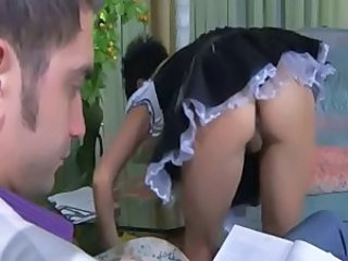 Maid  Uniform Upskirt