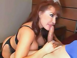 Mature babe has a good set of sucking lips and still gets fucked
