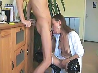 Deepthroat European German Gagging German Mature