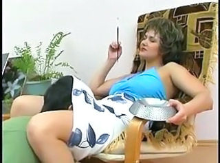 Russian mature mom with young