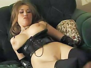 Lesbians in PVC licking