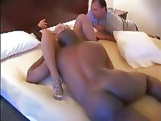 BBC Breeds Mature White Wife while Hubby Watches - Cuckold