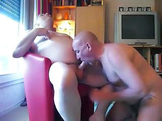 Video from: yobt1 | Grandpa In The Armchair Gets His Hard Penis Sucked