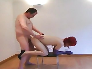 Crossdresser fucked with facial