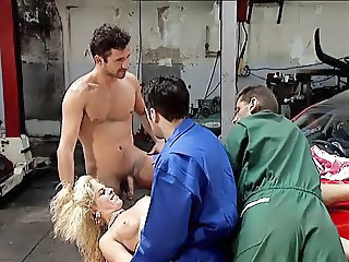 Car Gangbang  Gangbang Blonde