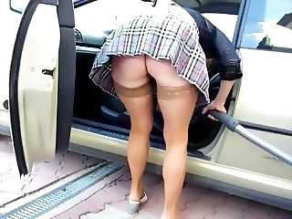 Car Upskirt Mom Son Son Upskirt