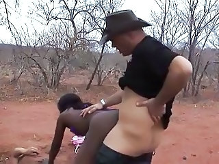 Doggystyle Ebony Interracial African Ebony Pussy Outdoor
