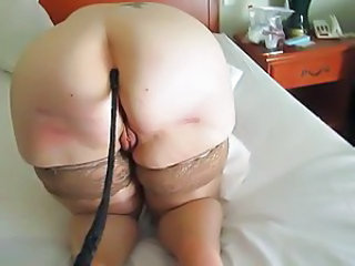 Granny takes the riding crop