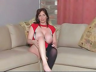 British MILF slut Penelope in a couple of solo scenes