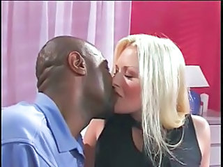 Blonde Interracial Kissing Interracial Blonde