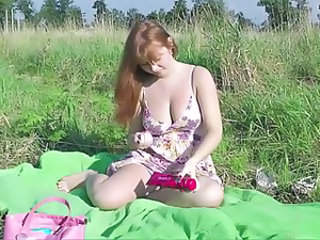 Masturbating Natural Outdoor Big Tits Redhead Big Tits Teen Car Teen