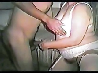 Hillbilly wife tries out black cock while hubby tapes
