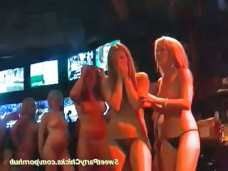 Drunk Chicks At The Bar Dancing Naked And Fingering Their Pussies