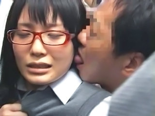 Forced Glasses Japanese Forced Public Public Asian