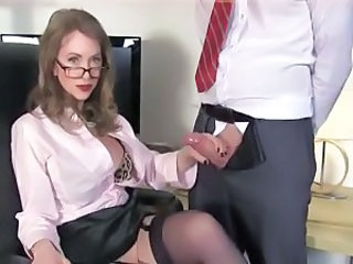 Teacher Handjob Glasses Handjob Cock Milf Ass