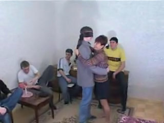 Russian Grown-up murky Mom Gangbang