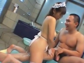Maid Bathroom Asian Asian Babe Bathroom Bus + Asian