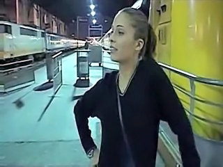 Hot French Lesbian In Train
