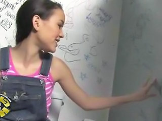 Black Dude banging the Pussy of Amai Liu at a Restroom