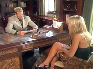 Blonde girl fucking her boss in his office _: blondes