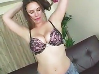 Rucca Page's big natural tits are a wonder to watch as she cowgirls a cock