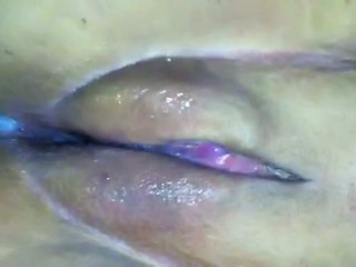 Quick creampie upclose!