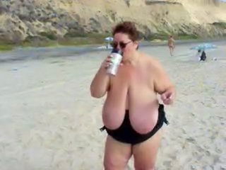 Beach Outdoor Public Bbw Mature Bbw Tits Big Tits Bbw