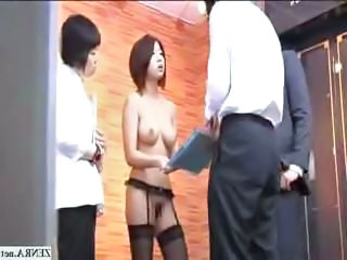 Female Japanese employees go nude at work