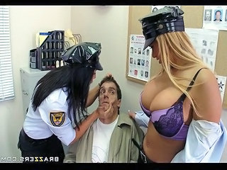 Big Titted Mall Cops Shyla And Lezley Extort Sexual Favors From Shopli...