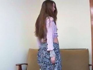 Shy Teenie Stripping And Fingering