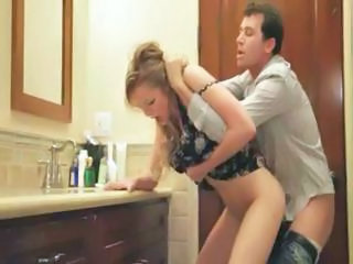 Bathroom Clothed Doggystyle Bathroom Teen Blonde Teen Clothed Fuck