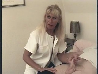 Nurse French European French Mature Handjob Mature