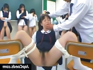Naughty Young Asian Schoolgirls Lift Their Skirts For A Spanking From...