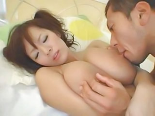 He Sucks The Nipples On Her Huge Japanese Tits